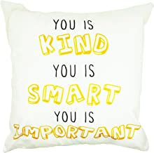 Arundeal 18 x 18 Inch Polyester Square Throw Pillow Cases Cushion Cover - You Is Kind You is Smart You is Important