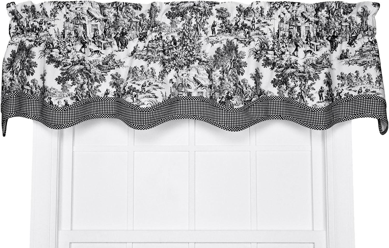 gran venta Ellis Curtain Victoria Park Toile - Cortinas a a a Medida de 68-by-24, Color Azul, algodón, Negro, Bradford  la mejor selección de
