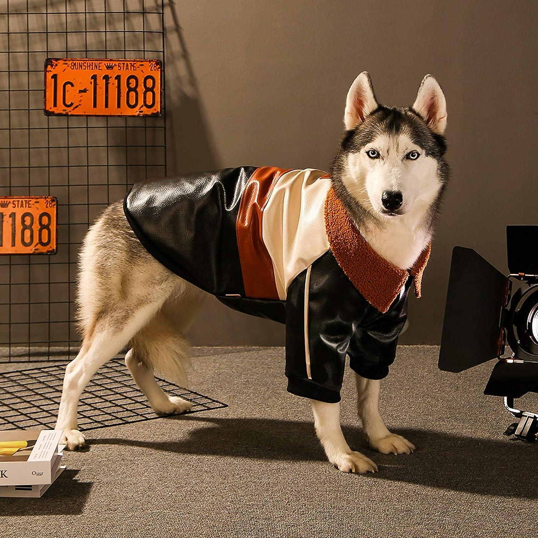 Abrigo Cuero para Perros Chaqueta de Cuero de Perro, husky siberiano