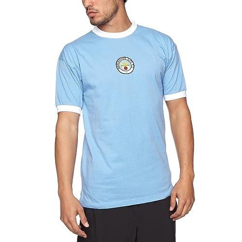 Score Draw Official Retro Manchester City Mens 1972 Shirt 1d72b2d16