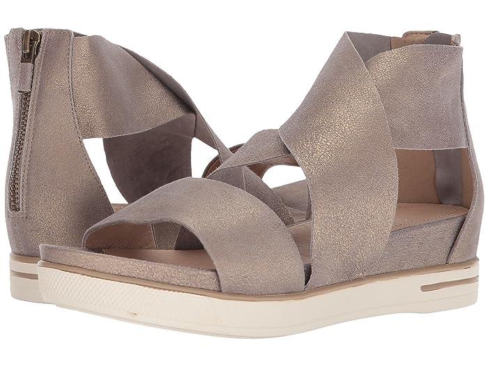 Eileen Fisher Sport (Platinum Metallic Suede) Women's Sandals