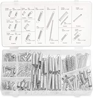 Neiko 50456A Spring Assortment Set, 200 Pieces   Zinc Plated Compression and Extension Springs for Repairs