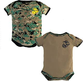 Baby Bodysuits 2 Pk. USMC Woodland Camo and Coyote Brown