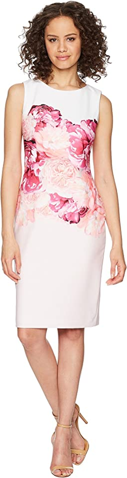 Calvin Klein Floral Placement Sheath Dress CD8C31JT