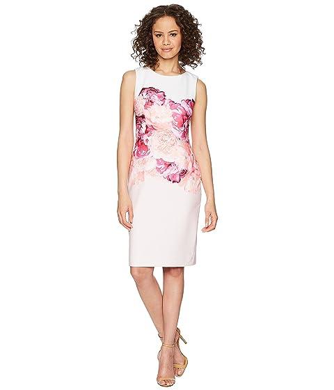 múltiple de CD8C31JT Klein rosa encaje vestido Calvin colocación con floral wzq0dSXH