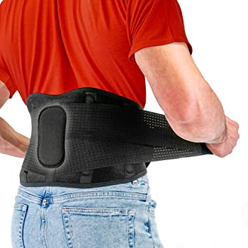 FITGAME Back Brace - Lower Back Support Belt for Pain Relief | Sciatica, Herniated Disc and Scoliosis for Men and Women - Adjustable Straps and Removable Lumbar Pad (X-Large)