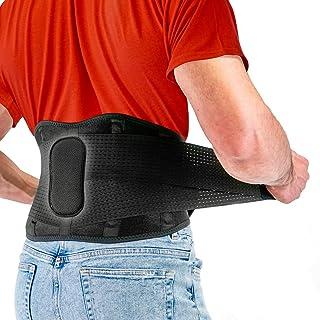 مهاربند FITGAME - کمربند پشتی کمر برای تسکین درد | سیاتیک ، دیسک فتق و اسکولیوز برای مردان و زنان - تسمه های قابل تنظیم و پد کمر متحرک (متوسط)