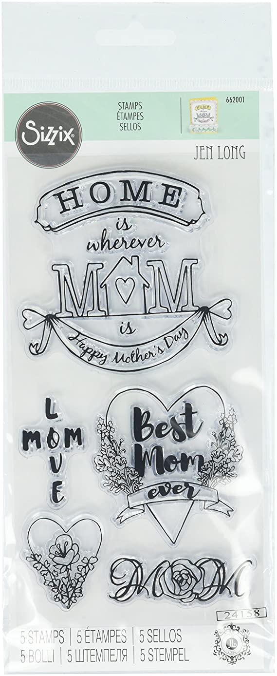 Sizzix 662001 Best Mom Ever Clear Stamps