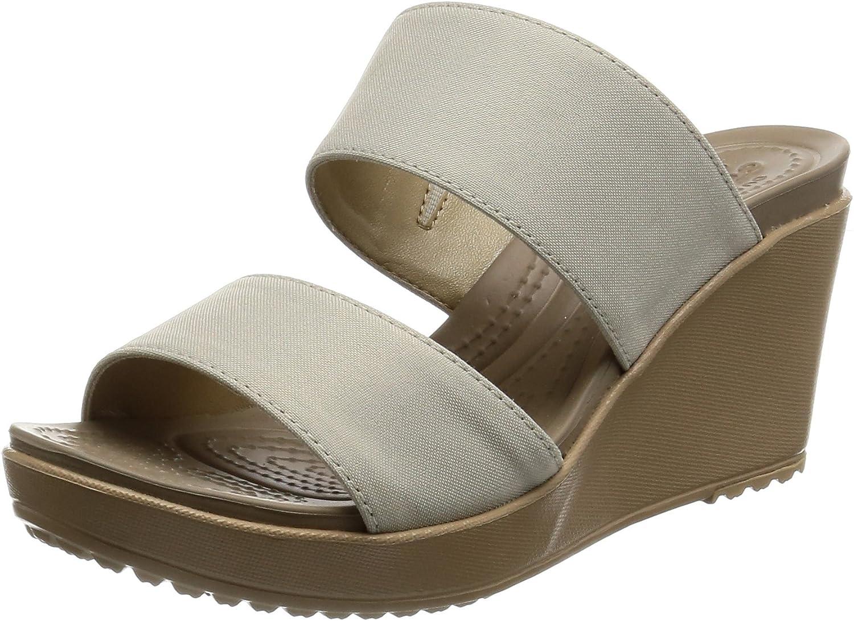 Crocs Women's Leigh II 2 Strap Wedge Sandal