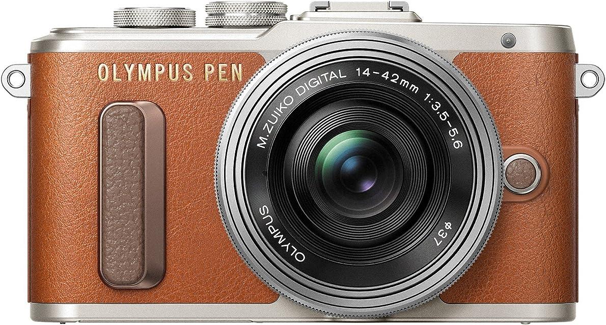 Kit Olympus Pen E-PL8 cámara de Sistema Micro Cuatro Tercios y Objetivo M.Zuiko 14-42 mm EZ marrón/Negro