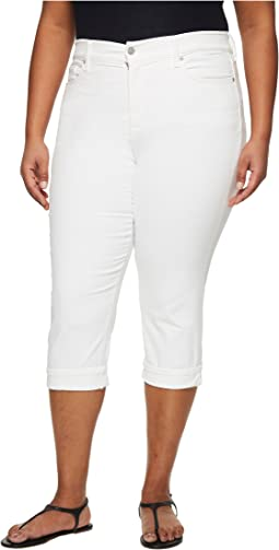 NYDJ Plus Size Plus Size Marilyn Crop Cuff in Optic White