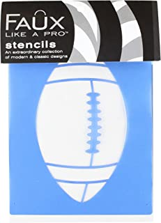 Faux Like a Pro Football Stencil, 5.5 by 7-Inch, Single Overlay by Faux Like a Pro B006PWNNLA  Modebewegung