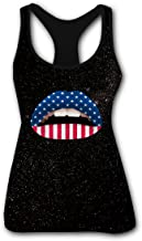 Violent Lips USA Flag Women's DIY Dry Fit Tank Top with Racer Back