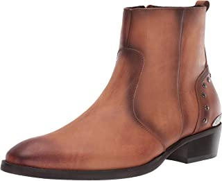 Steve Madden حذاء Bennet Fashion للرجال، جلد أسمر ضارب للصفرة، 7. 5 M US