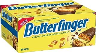 Nestle Butterfinger Milk Chocolate Candy Bars, Full Size Bulk Candy (Pack of 36)