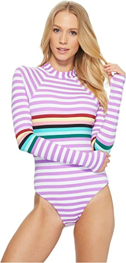 THE BIKINI LAB Stripeout Bodysuit One-Piece