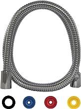 SANTRAS® Metalen doucheslang DELUXE 1,00 m lang met waterbesparing in chroom - bijzonder hoogwaardige en verdraaiende douc...