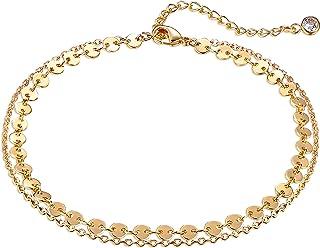 حلقه های زنجیره ای طلای ساده ، قلاب های نقره ای / نقره ای با کیفیت 14K با رنگ دلپذیر تابستانی تابستانی برای زنان