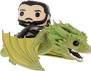 Funko 44448 POP. Rides: Game of Thrones-Jon Snow w/Rhaegal Collectible Figure, Multicolour