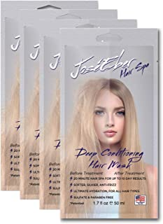 Jose Eber Hair Spa Deep Conditioning Hair Mask - 20 Minute Hair Spa for Up To 10 Day Results, Softer, Silkier, Anti-Frizz, Ultimate Hydration, For All Hair Types, Sulfate & Paraben Free, 1.7fl oz
