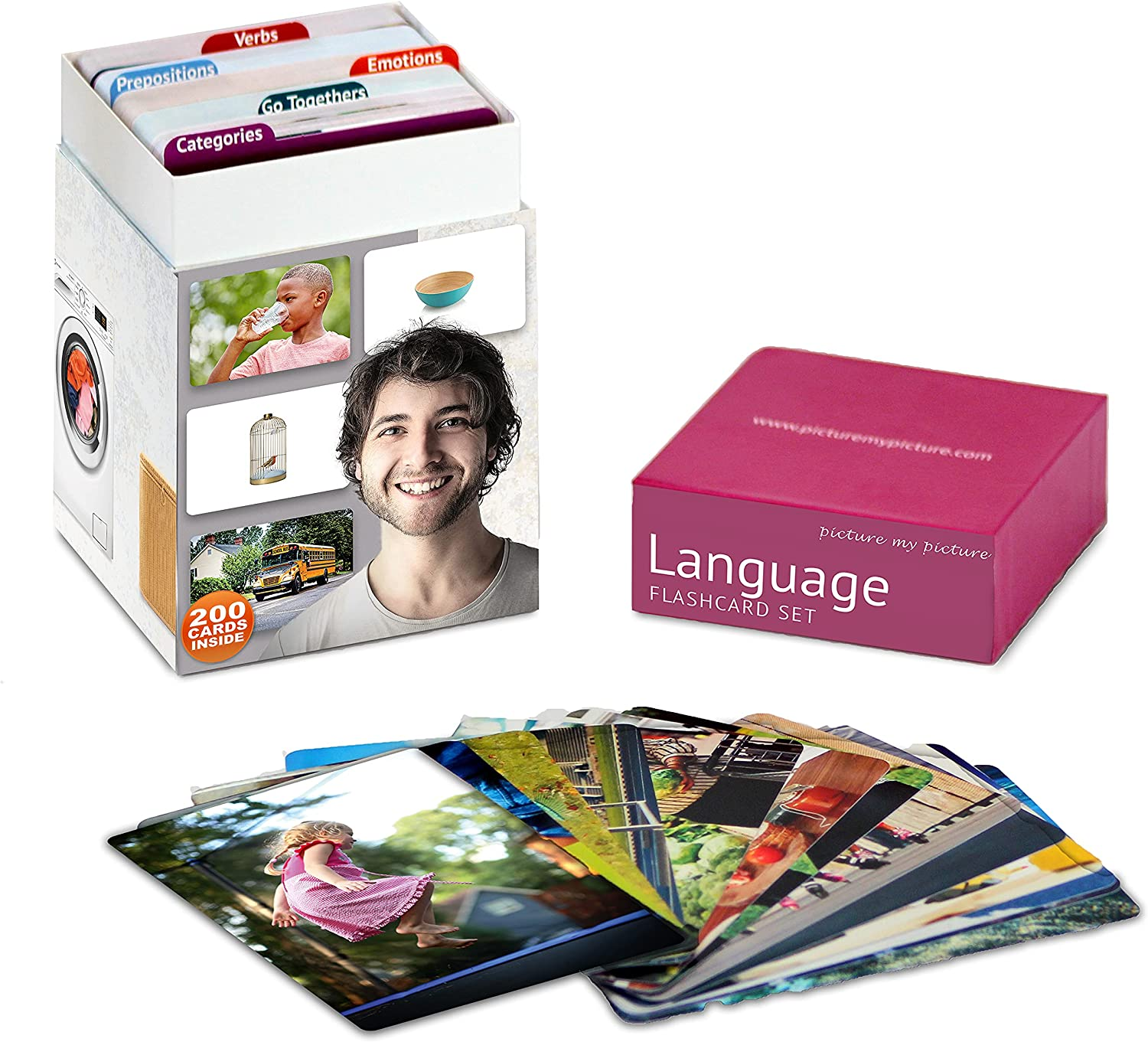Picture My Language Flash Card Emotio Feelings and Set Quality inspection Challenge the lowest price