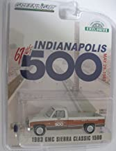 1983 GMC Sierra Classic 1500 Pickup Truck 67th Annual Indianapolis 500 Mile Race Official Truck (May 29, 1983) 1/64 Diecast Car by Greenlight 30028