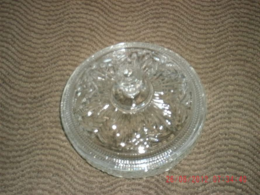 Avon Cut Glass Candy Dish with Lid