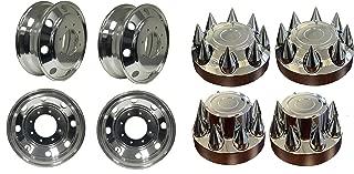 19.5 X 6.75 ALUMINUM WHEELS FOR F F450 F550 PCD:8X225 A1966702 Aluminum Wheels Hub Pilot package: 4pcs front +RAR wheels/covers + 2pcs rear steel wheels/covers