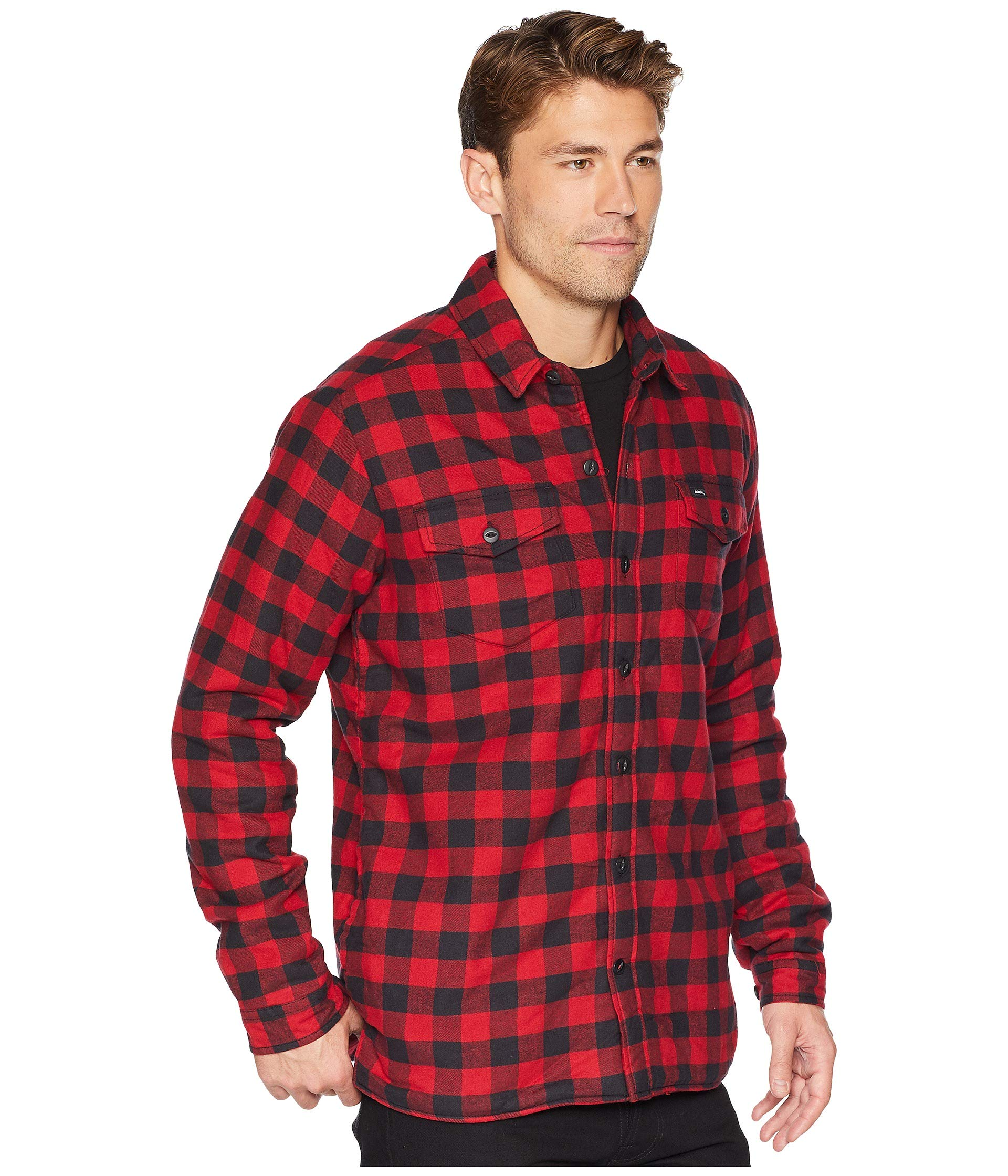 Buffalo black With Sherpa Plaid Jacket Rinsed Flannel Shirt 67 Lining Dickies White Collection Wqc6OpnS