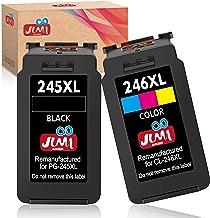 $29 » JIMIGO Remanufactured Ink Cartridge Replacement for Canon PG-245XL CL-246XL PG-245 CL-246 for Pixma MX492 MX490 MG2520 MG2920 MG2420 MG2522 MG2922 MG2525 MG3022 MG3020 IP2820 (1 Black, 1 Tri-Color)