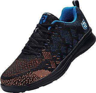 Zapatos de Seguridad Hombre Mujer, Punta de Acero Zapatos Ligero Zapatos de Trabajo Respirable Construcción Zapatos Reflex...