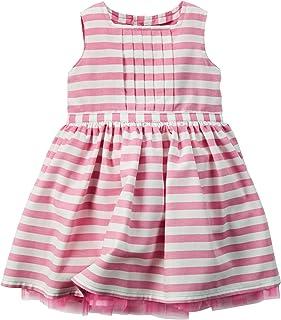 Carters Baby Girls Short Sleeve Striped Cat Face Top and Dot Skirt Set 6 Months