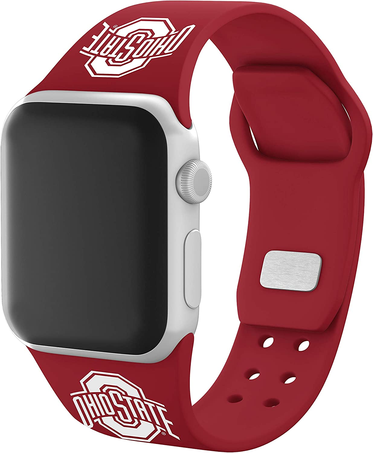AFFINITY BANDS Ohio State Buckeyes Silicone Sport Watch Band Compatible with Apple Watch (38mm/40mm - Crimson Red)
