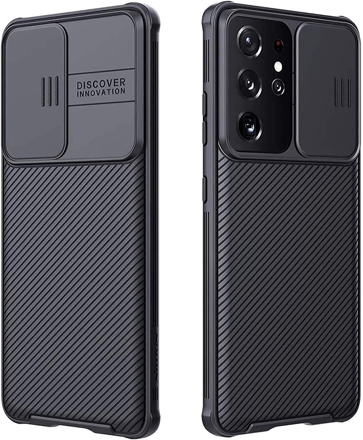CloudValley for Samsung Galaxy S21 Ultra Case with Camera Cover, Full-Body Protective & Slim Fit, Camera Protection Case Only for Samsung Galaxy S21 Ultra 5G 6.8 inch (2021 Release), Black