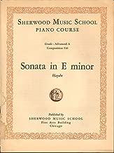 Sonata in E Minor - Haydn [Sheet Music] - Sherwood Music School Courses - Piano - Grade: Advanced a - Composition 510