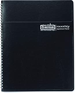House of Doolittle 2020 Calendar Planner, Monthly, Black Cover, 6.9 x 8.75 Inches, December - January (HOD262602-20)