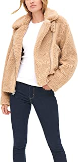 Women's The Megan Sherpa Asymmetrical Moto Jacket