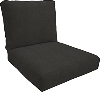 Eddie Bauer Home Deep Seating Lounge Double Piped, Medium, Spectrum Carbon