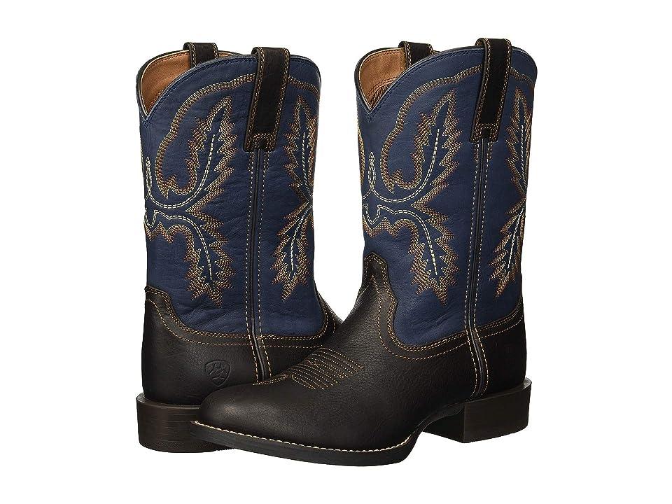 Ariat Sport Stratten (Dark Wicker/Tack Room Blue) Cowboy Boots