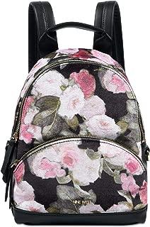Taren Velvet Backpack (Rose Floral/Black)