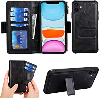 Compatible with iPhone 12 Mini Wallet Leather Case with Card Holder,Zipper Detachable Magnetic Shockproof with 6 Card Slot...