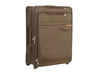 Briggs & Riley Baseline Medium Expandable Upright (Olive) Luggage