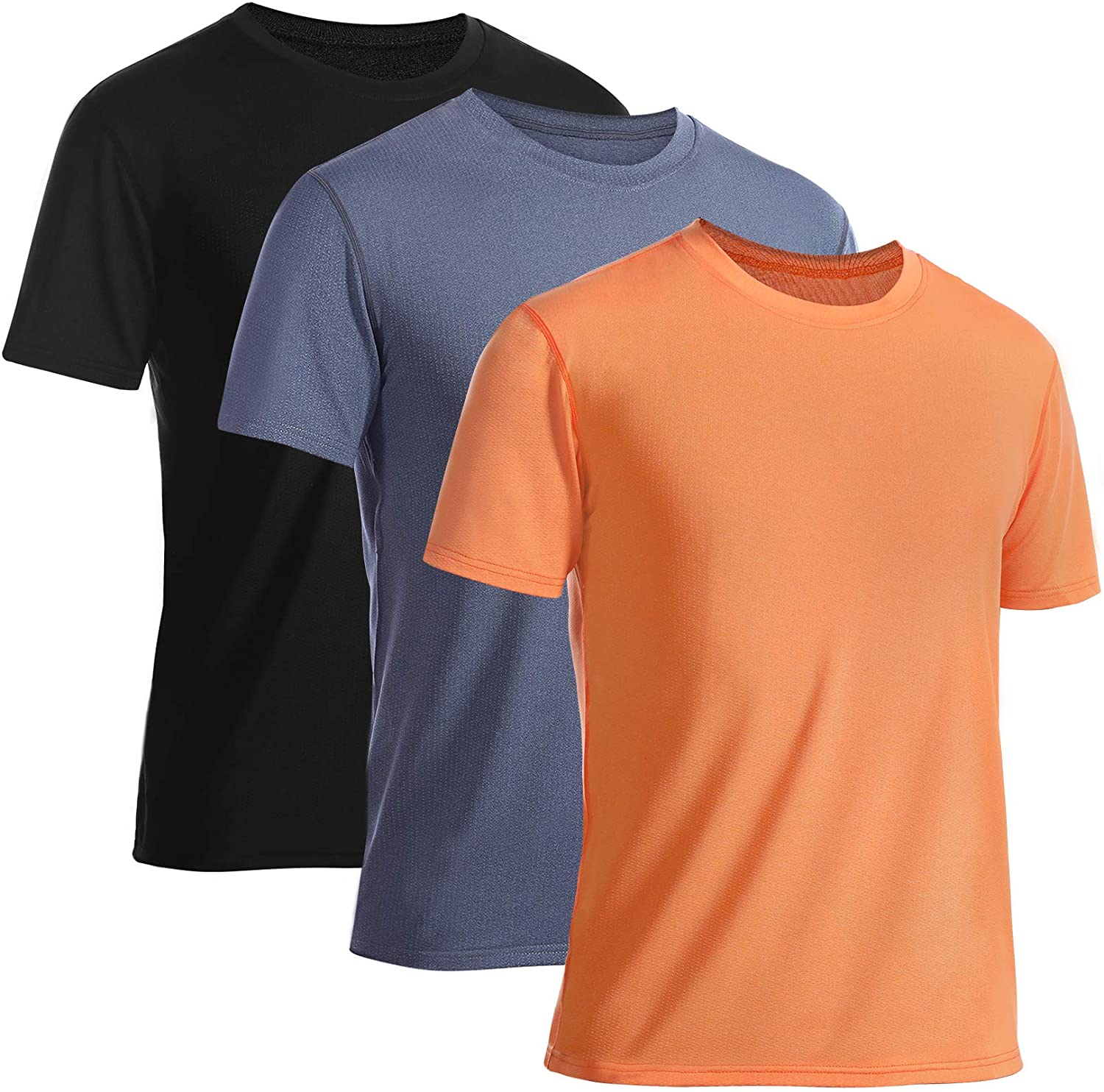 Ranking TOP9 Runhit 3Pack Workout All items free shipping Shirts for Men T-Shirts Moisture Dry Quick