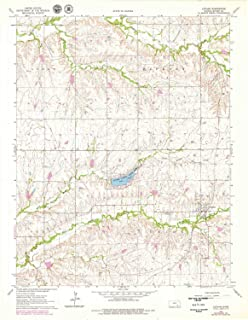 YellowMaps Latham KS topo map, 1:24000 Scale, 7.5 X 7.5 Minute, Historical, 1964, Updated 1979, 27.07 x 21.09 in