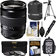 Fujifilm 18-135mm f/3.5-5.6 XF R LM OIS WR Zoom Lens with Backpack + Tripod + 3 Filters + Kit for X-A2, X-E2, X-E2s, X-M1, X-T1, X-T10, X-Pro2 Cameras