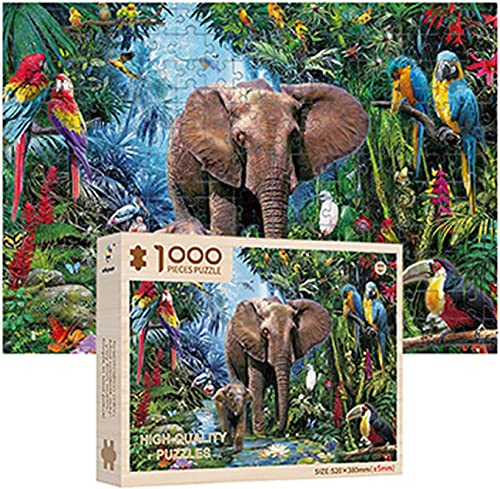 popular OPTIMISTIC Wooden Puzzle 1000 Piece - Animal Forest Landscape Puzzles - DIY Puzzle Game Collection Artwork for wholesale Adults online sale Teens - 1000 Piece Jigsaw Puzzles, 20x15In, 2MM Thick online sale