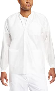 Wrinkle-Free ValuMax 3660BKL Extra-Safe Noble Looking Disposable SMS Knee Length Lab Coat Black L Pack of 10