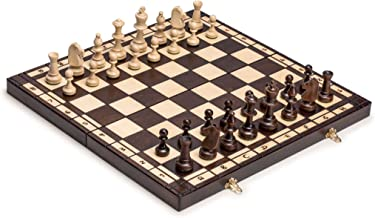 Husaria Large European Wooden Chess and Checkers Set - 19.7