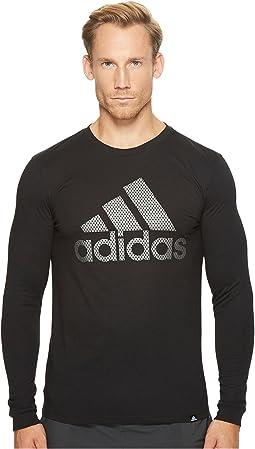 adidas - Badge of Sport Metal Mesh Long Sleeve Tee