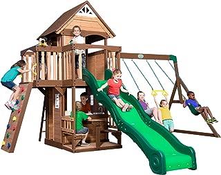 Backyard Discovery Mount Triumph All Cedar Wood Playset Swingset